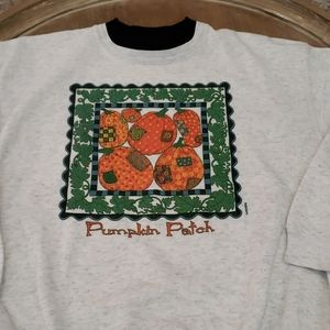 Vintage Pumpkin Patch Womens Sweatshirt Large